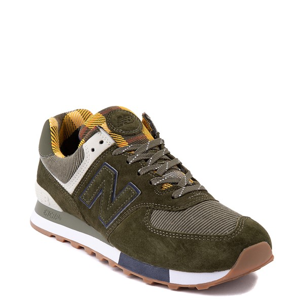 alternate view Mens New Balance 574 Athletic Shoe - Oakleaf Green / PlaidALT5