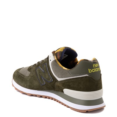 Alternate view of Mens New Balance 574 Athletic Shoe - Oakleaf Green / Plaid