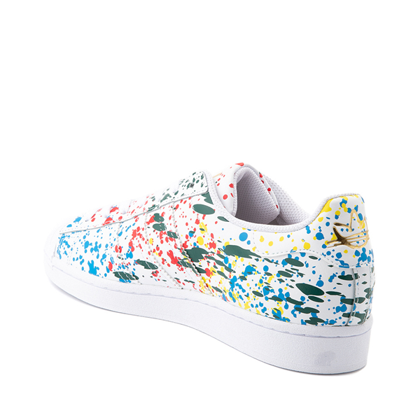 alternate view Mens adidas Superstar Paint Splatter Athletic Shoe - WhiteALT1