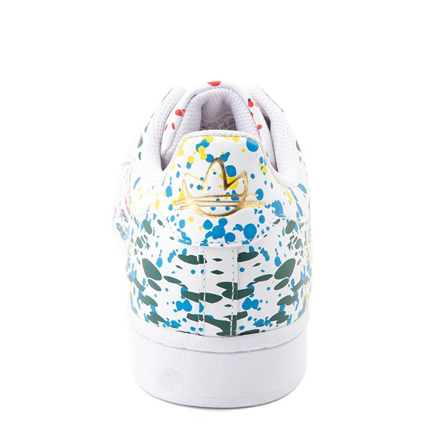 alternate view Mens adidas Superstar Paint Splatter Athletic Shoe - WhiteALT2B