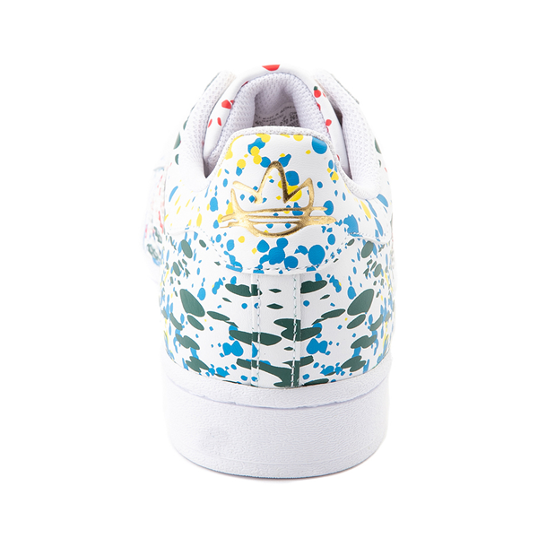 alternate view Mens adidas Superstar Paint Splatter Athletic Shoe - WhiteALT4