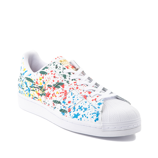 alternate view Mens adidas Superstar Paint Splatter Athletic Shoe - WhiteALT5