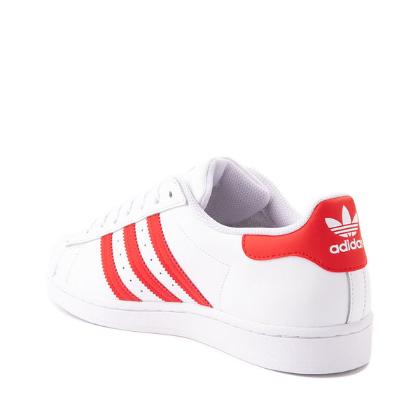 alternate view adidas Superstar Athletic Shoe - White / Vivid RedALT1