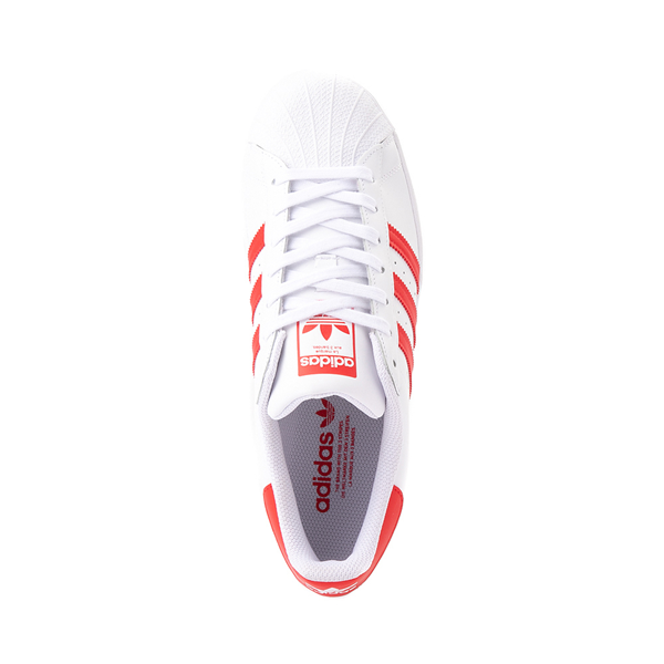 alternate view adidas Superstar Athletic Shoe - White / Vivid RedALT2