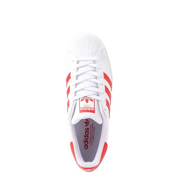 alternate view adidas Superstar Athletic Shoe - White / Vivid RedALT4B