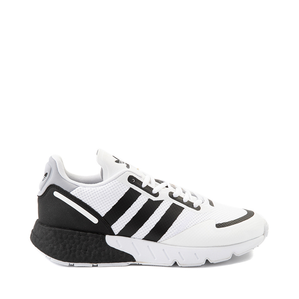 Mens adidas ZX 1K Boost Athletic Shoe - White / Black