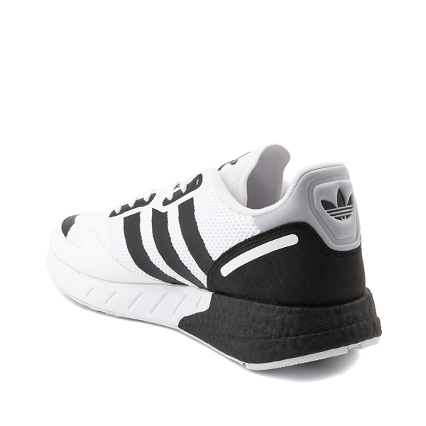 alternate view Mens adidas ZX 1K Boost Athletic Shoe - White / BlackALT1
