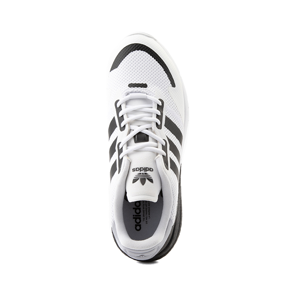 alternate view Mens adidas ZX 1K Boost Athletic Shoe - White / BlackALT2