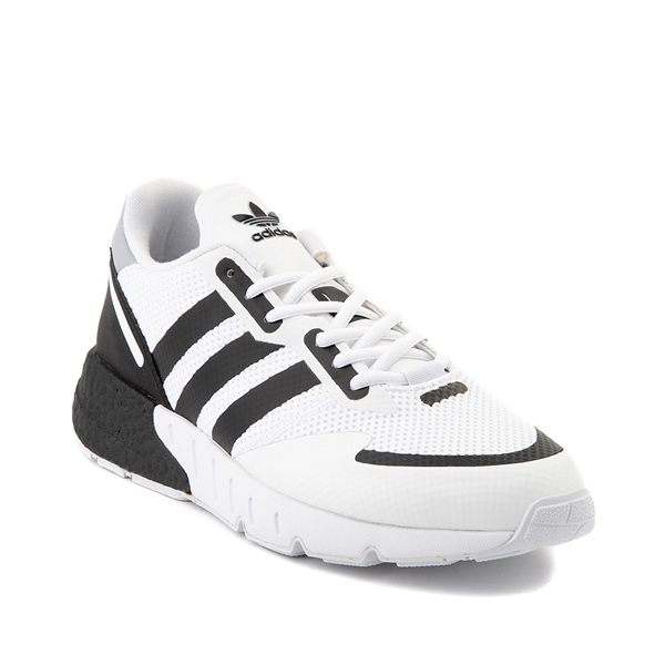 alternate view Mens adidas ZX 1K Boost Athletic Shoe - White / BlackALT5