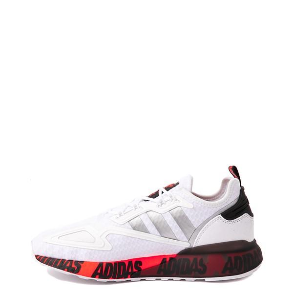 alternate view Mens adidas ZX 2K Boost Athletic Shoe - White / Solar RedALT1B