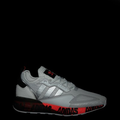 Alternate view of Mens adidas ZX 2K Boost Athletic Shoe - White / Solar Red