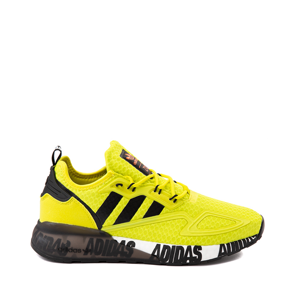 Main view of Mens adidas ZX 2K Boost Athletic Shoe - Solar Yellow / Black