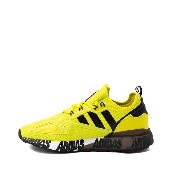 alternate view Mens adidas ZX 2K Boost Athletic Shoe - Solar Yellow / BlackALT1