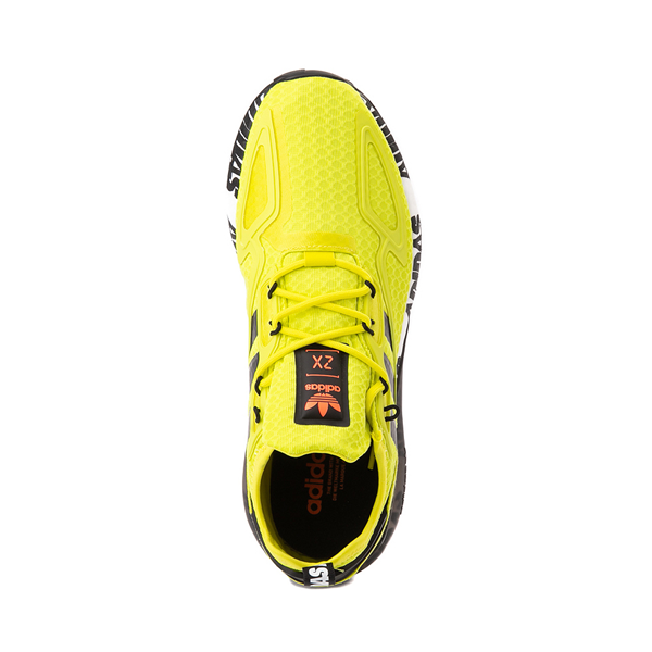 alternate view Mens adidas ZX 2K Boost Athletic Shoe - Solar Yellow / BlackALT2
