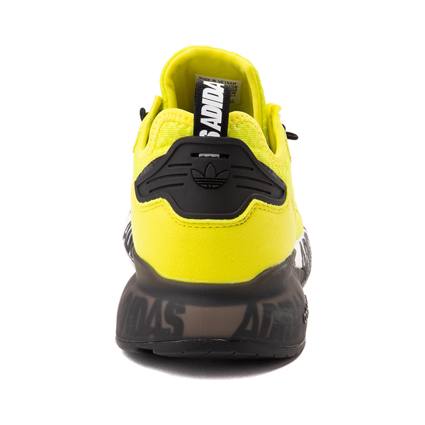 alternate view Mens adidas ZX 2K Boost Athletic Shoe - Solar Yellow / BlackALT4