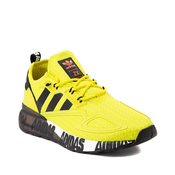 alternate view Mens adidas ZX 2K Boost Athletic Shoe - Solar Yellow / BlackALT5
