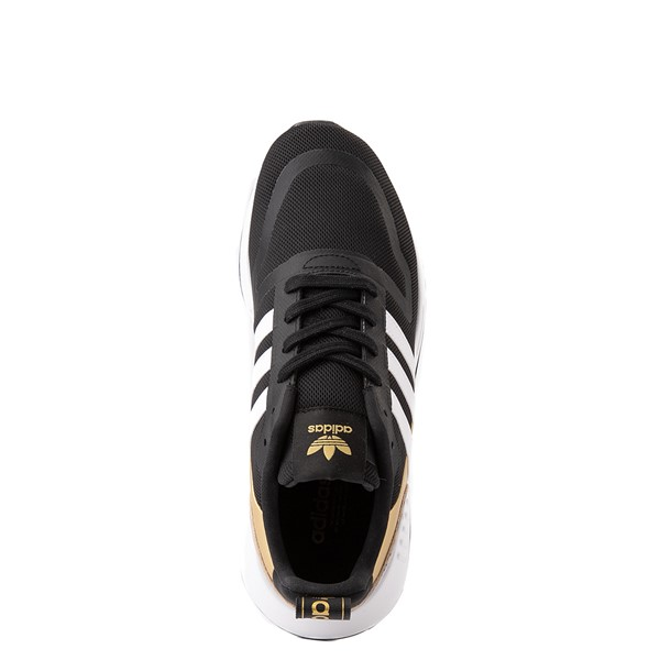 alternate view Womens adidas Multix Athletic Shoe - Black / Gold / LeopardALT2