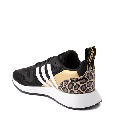 Alternate view of Womens adidas Multix Athletic Shoe - Black / Gold / Leopard