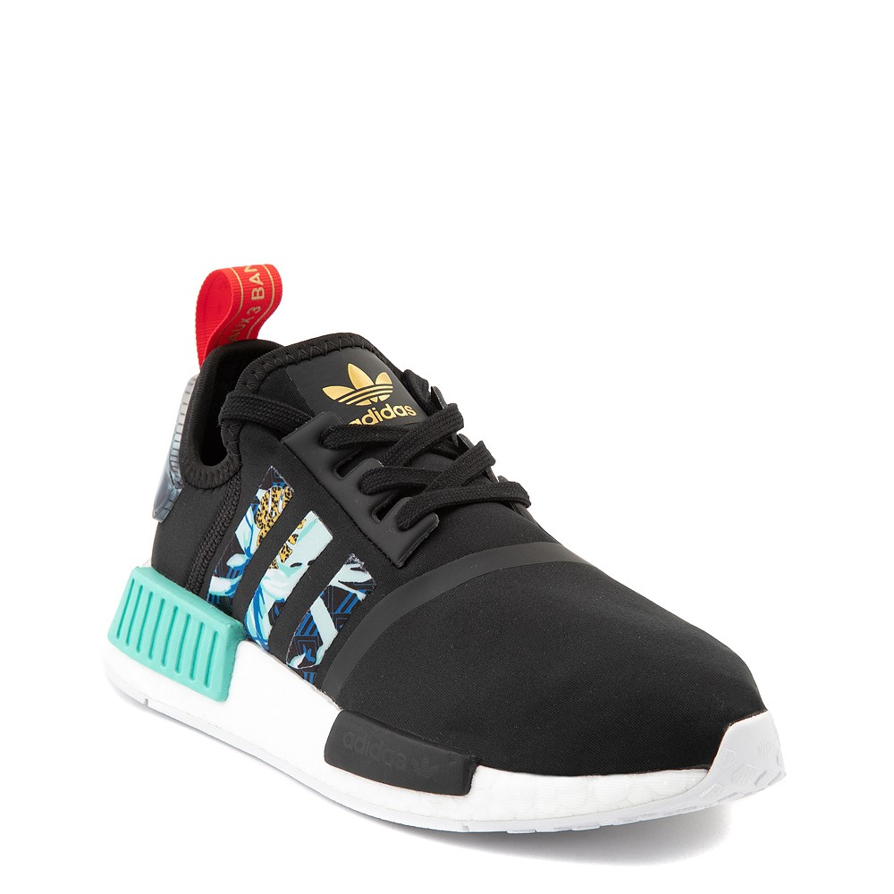 Womens adidas x Her Studio NMD R1 Athletic Shoe - Black / Floral