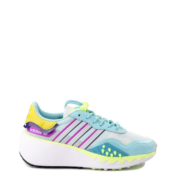 Main view of Womens adidas Choigo Athletic Shoe - Hazy Sky / Hi-Res Yellow