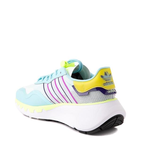 alternate view Womens adidas Choigo Athletic Shoe - Hazy Sky / Hi-Res YellowALT1
