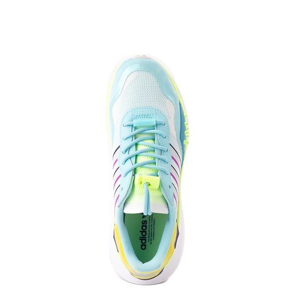 alternate view Womens adidas Choigo Athletic Shoe - Hazy Sky / Hi-Res YellowALT4B