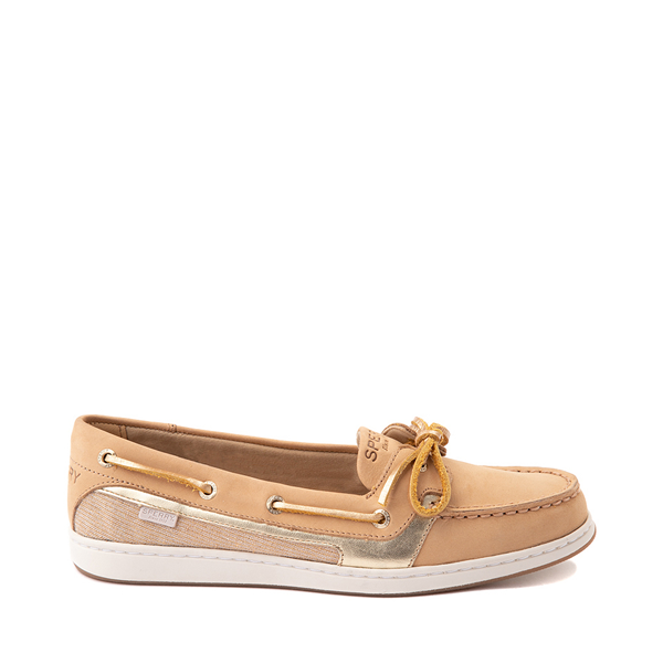 Main view of Womens Sperry Top-Sider Starfish Boat Shoe - Tan / Gold