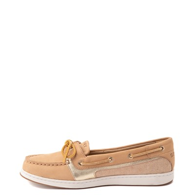 Alternate view of Womens Sperry Top-Sider Starfish Boat Shoe - Tan / Gold