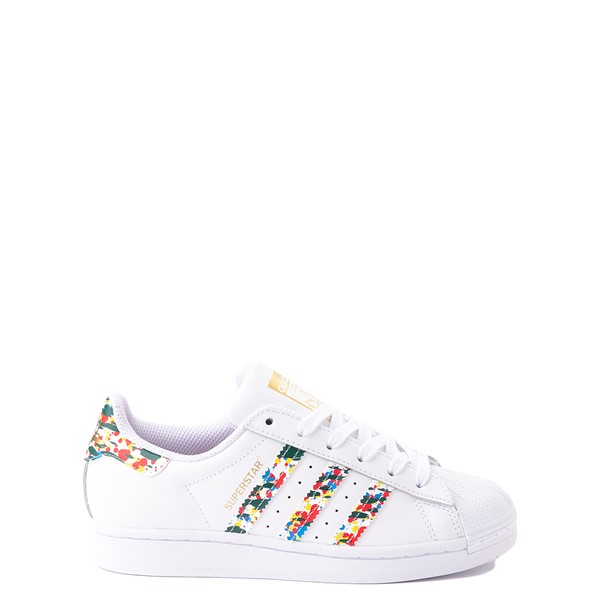 adidas Superstar Paint Splatter Athletic Shoe - Big Kid - White