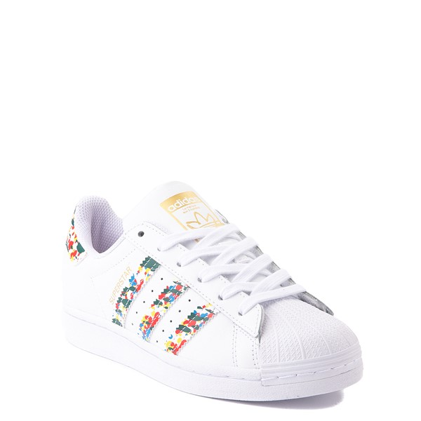 alternate view adidas Superstar Paint Splatter Athletic Shoe - Big Kid - WhiteALT5