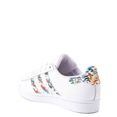 Alternate view of adidas Superstar Paint Splatter Athletic Shoe - Big Kid - White