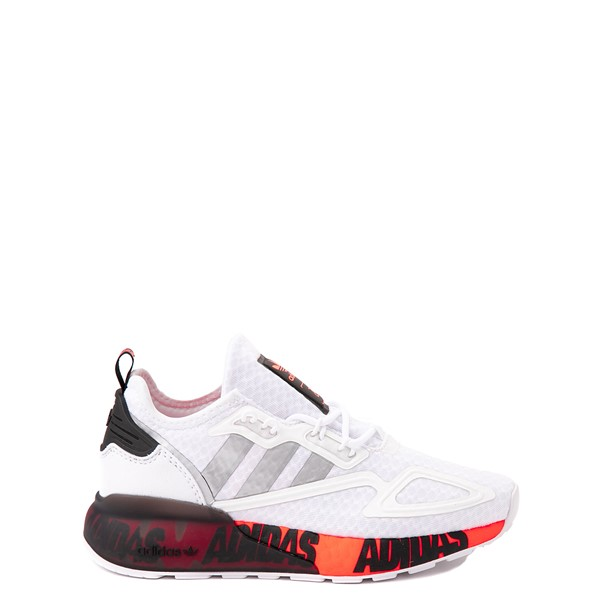 adidas ZX 2K Boost Athletic Shoe - Big Kid - White