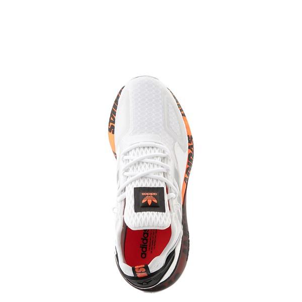 alternate view adidas ZX 2K Boost Athletic Shoe - Big Kid - WhiteALT4B