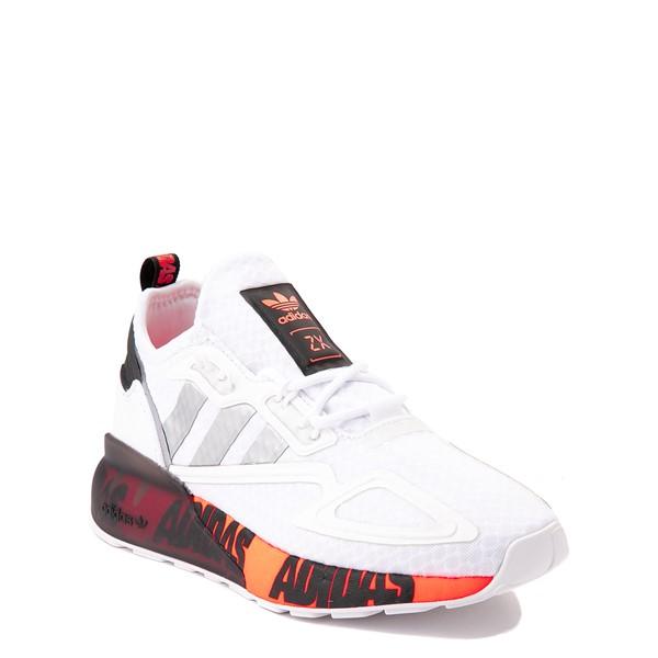 alternate view adidas ZX 2K Boost Athletic Shoe - Big Kid - WhiteALT5