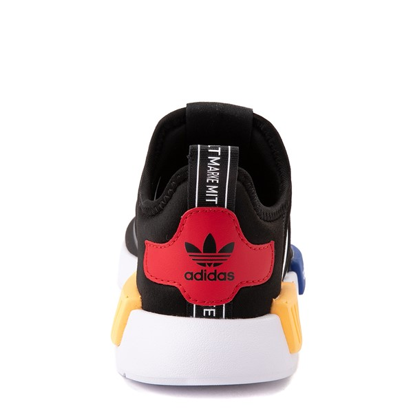 alternate view adidas NMD 360 Slip On Athletic Shoe - Little Kid - Core Black / Yellow / BlueALT4