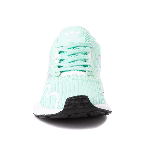 alternate view adidas Swift Run X Athletic Shoe - Big Kid - Mint / IridescentALT4