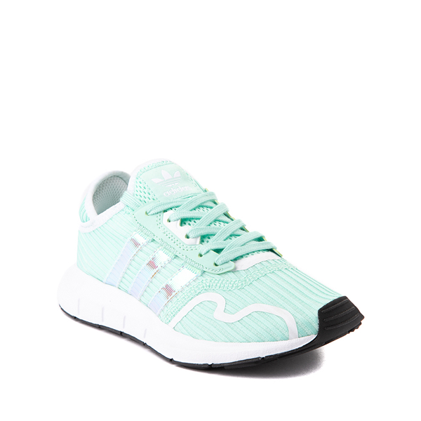 alternate view adidas Swift Run X Athletic Shoe - Big Kid - Mint / IridescentALT5