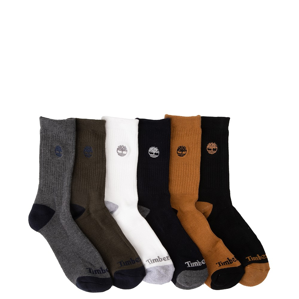 Timberland Crew Socks 6 Pack - Big Kid - Multicolor