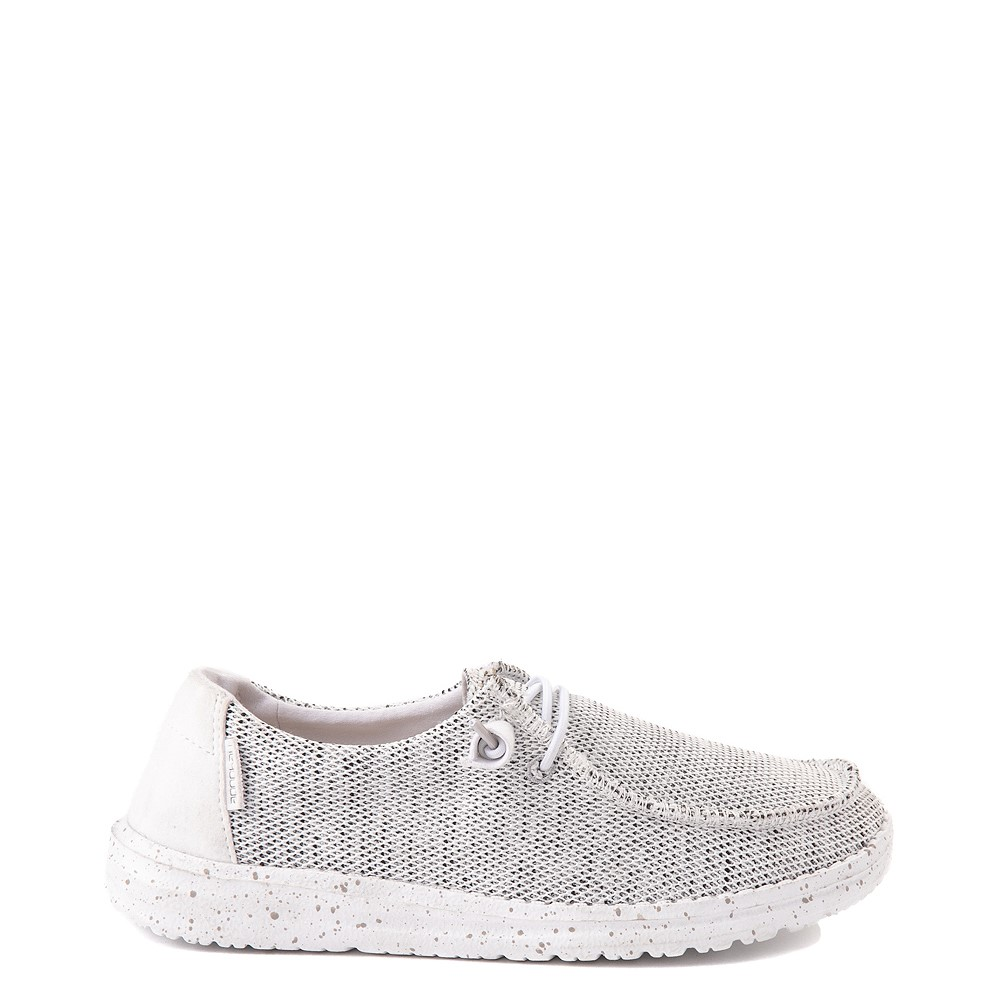 Womens Hey Dude Wendy Sox Slip On Casual Shoe - White