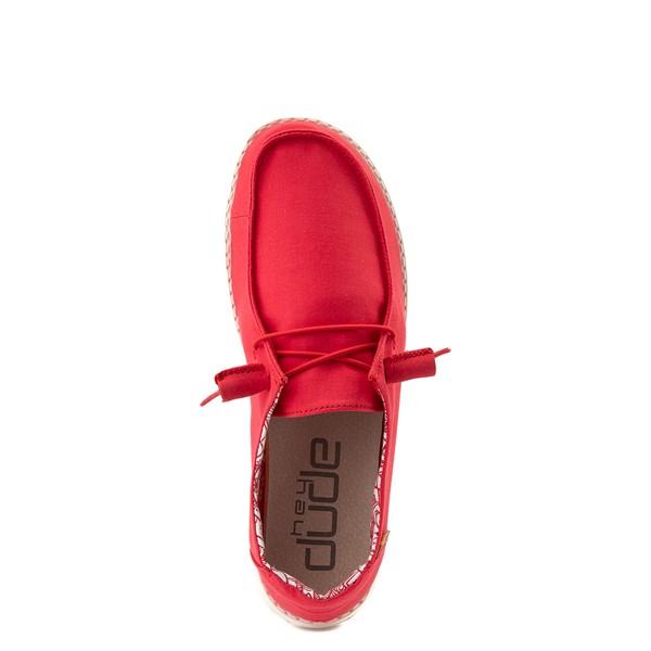 alternate view Womens Hey Dude Wendy Slip On Casual Shoe - RedALT4B