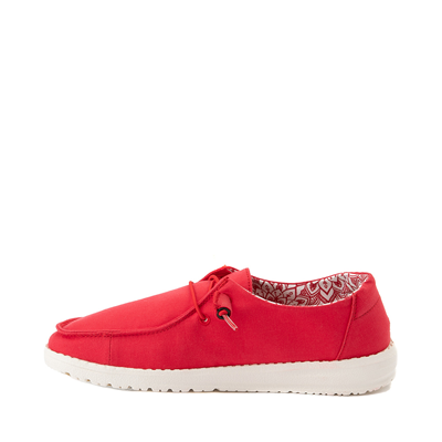 Alternate view of Womens Hey Dude Wendy Slip On Casual Shoe - Red