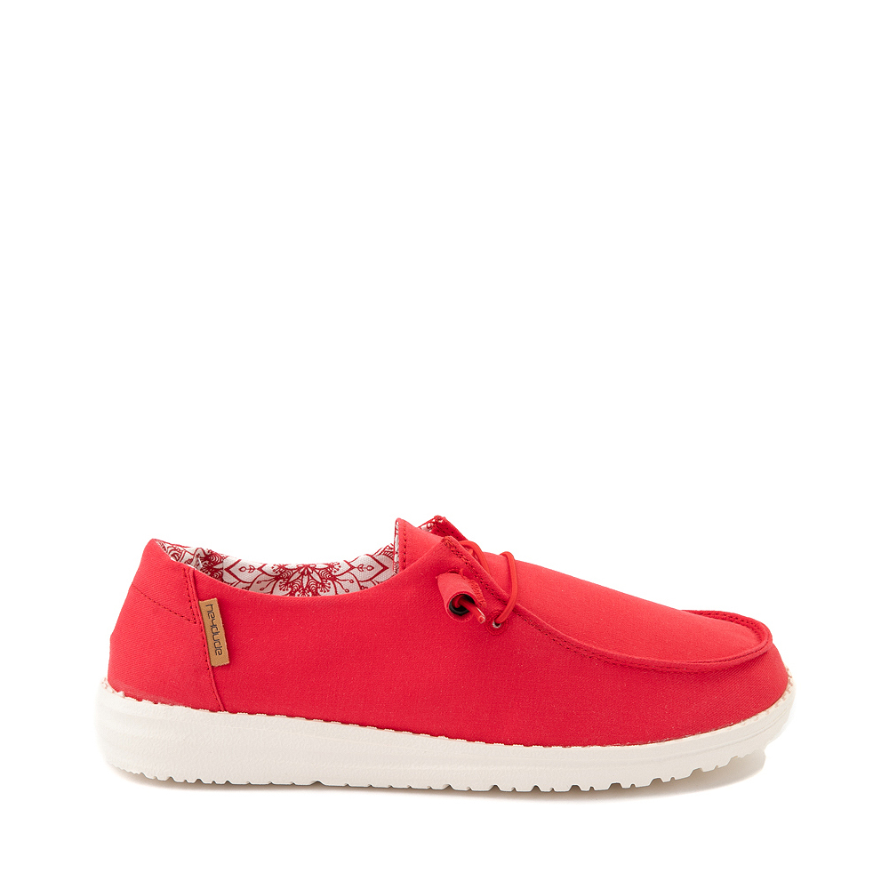 Womens Hey Dude Wendy Slip On Casual Shoe - Red