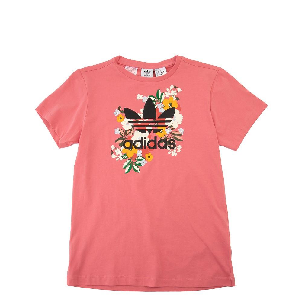 adidas Flower Trefoil Tee - Little Kid / Big Kid - Pink