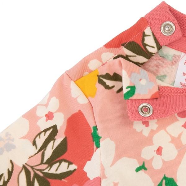 alternate view adidas Floral Trefoil Tee - Toddler - Pink / MulticolorALT2