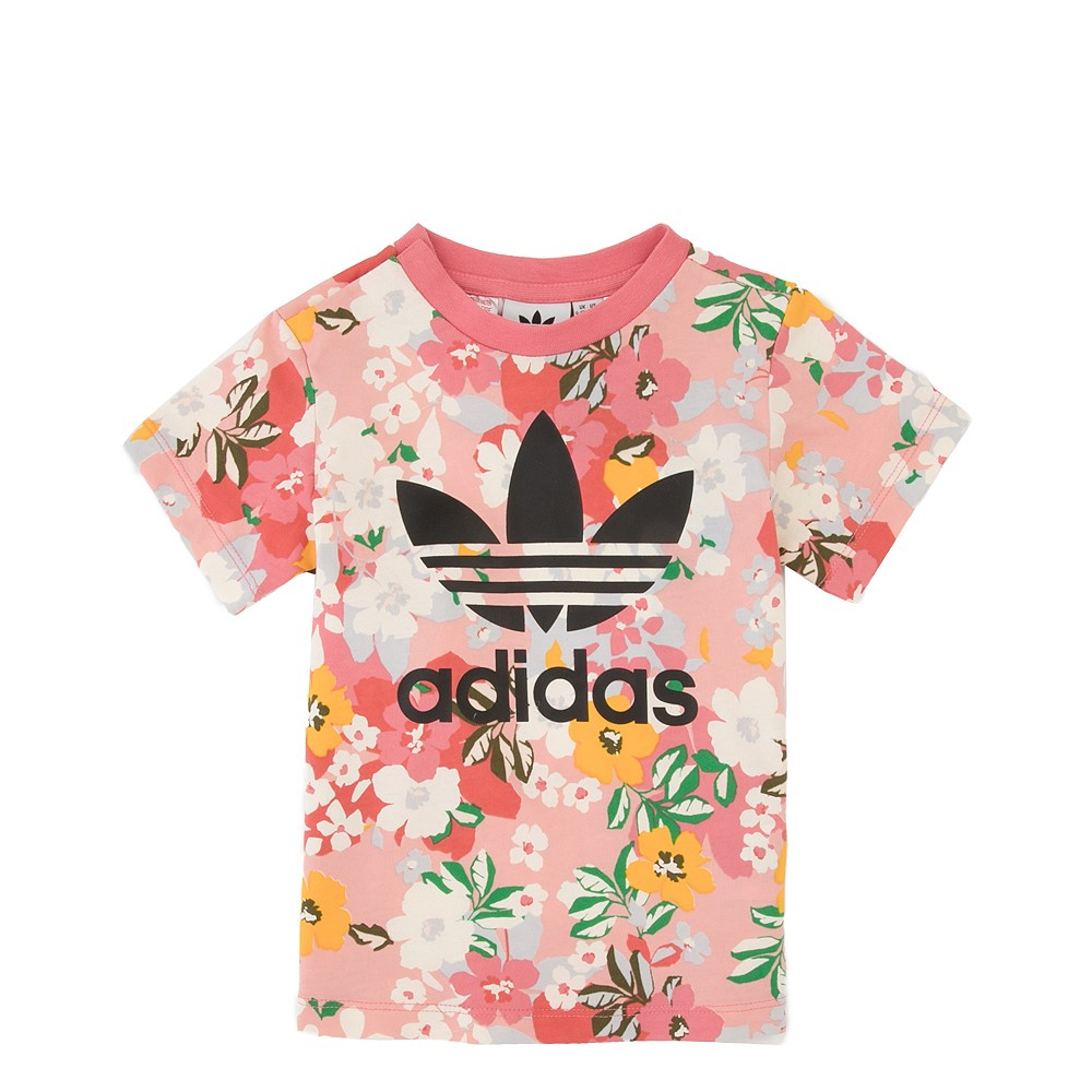 adidas Floral Trefoil Tee - Toddler - Pink / Multicolor