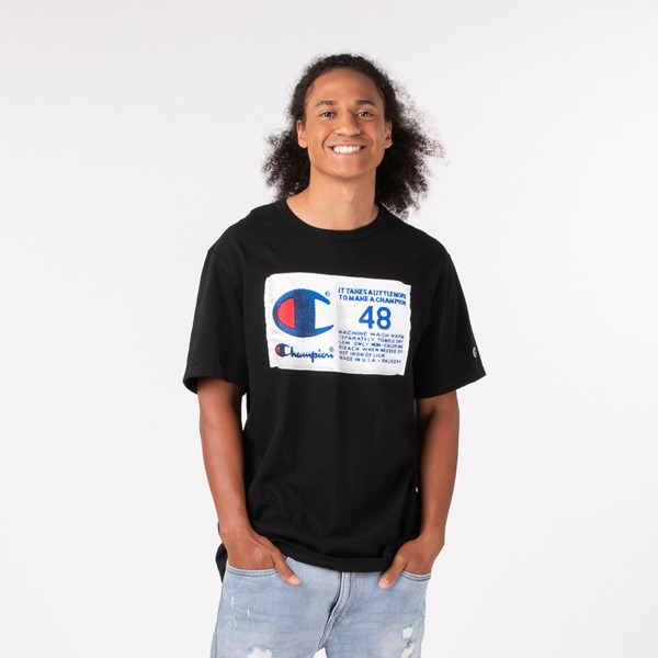 Mens Champion Heritage Tee - Black