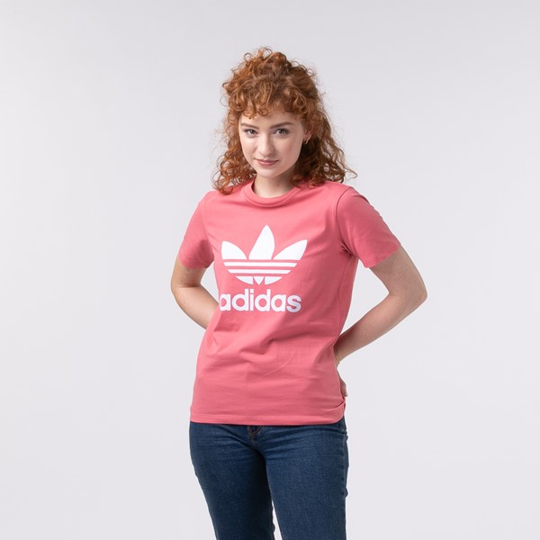 Main view of Womens adidas Trefoil Tee - Hazy Rose