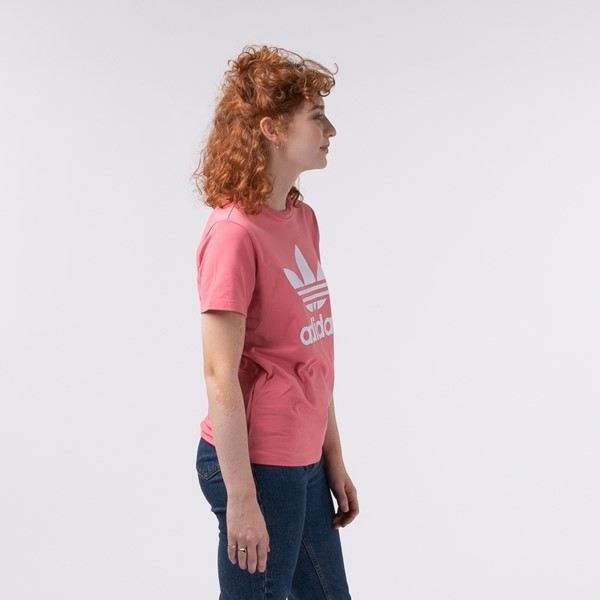 alternate view Womens adidas Trefoil Tee - Hazy RoseALT2