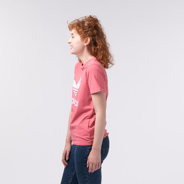 alternate view Womens adidas Trefoil Tee - Hazy RoseALT3