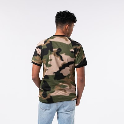 Alternate view of Mens adidas 3-Stripes Tee - Wild Pine Camo